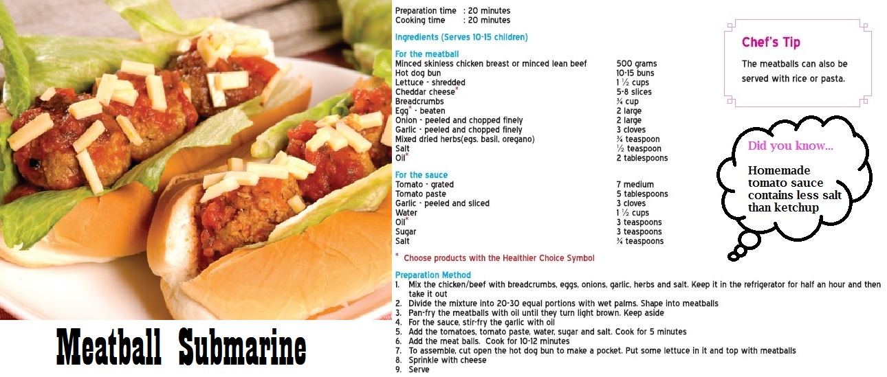 Meatball Submarine HPB Healthilicious Recipes p. 10