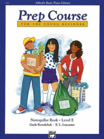 's Basic Piano Prep Course Notespeller Book E